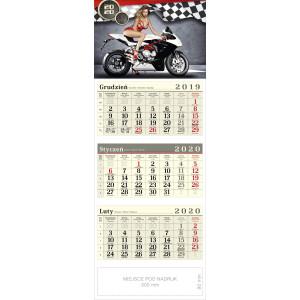kalendarz trójdzielny - DZIEWCZYNA I MOTOR