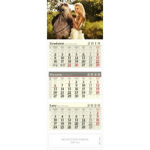 kalendarz trójdzielny - AMAZONKA