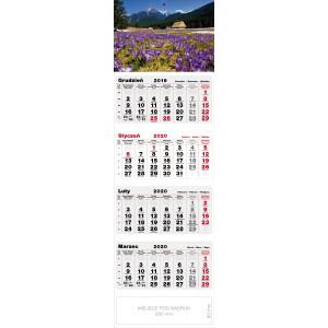 kalendarz czterodzielny - KROKUSY