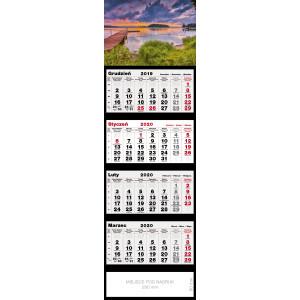 kalendarz czterodzielny - MAZURY