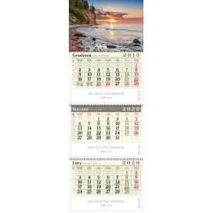 kalendarz trójdzielny spiralowany - NAD BAŁTYKIEM
