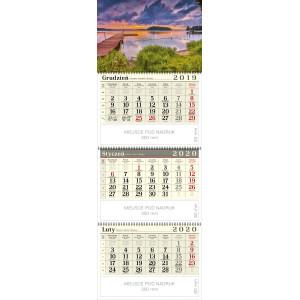 kalendarz trójdzielny spiralowany - MAZURY