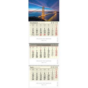 kalendarz trójdzielny spiralowany - MOST