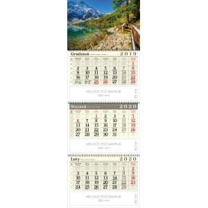 kalendarz trójdzielny spiralowany - MNICH