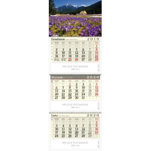 kalendarz trójdzielny spiralowany - KROKUSY