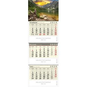 kalendarz trójdzielny spiralowany - RYSY