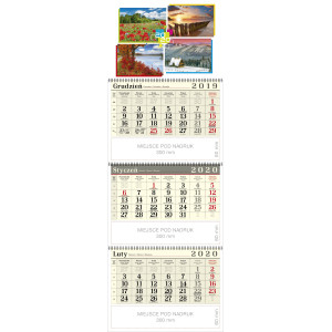 kalendarz trójdzielny spiralowany - 4 PORY ROKU