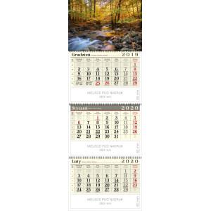 kalendarz trójdzielny spiralowany - LEŚNY POTOK