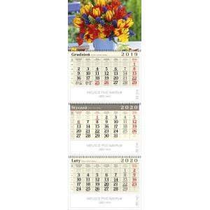 kalendarz trójdzielny spiralowany - BUKIET