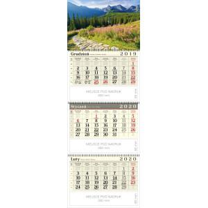 kalendarz trójdzielny spiralowany - HALA GĄSIENICOWA