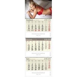 kalendarz trójdzielny spiralowany - MONIKA