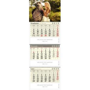 kalendarz trójdzielny spiralowany - AMAZONKA