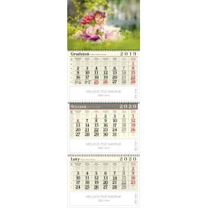 kalendarz trójdzielny spiralowany - DZIEWCZYNKA