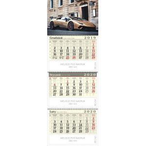 kalendarz trójdzielny spiralowany - SPORTOWY SAMOCHÓD