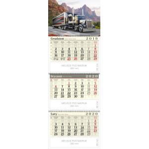 kalendarz trójdzielny spiralowany - TRUCK
