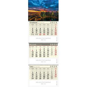 kalendarz trójdzielny spiralowany - METROPOLIA