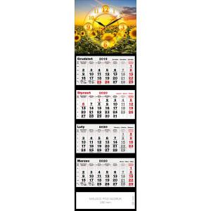 kalendarz czterodzielny- ZEGAR SŁONECZNIKI