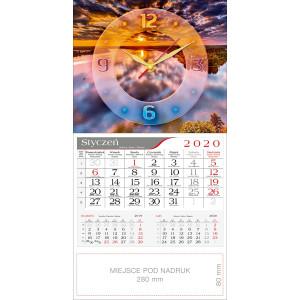 kalendarz jednodzielny - ZEGAR ZACHÓD SŁOŃCA