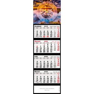 kalendarz czterodzielny- ZEGAR ZACHÓD SŁOŃCA