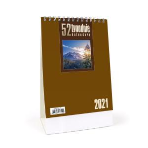 Kalendarz Biurkowy - Stojący - Tygodniowy - 52T