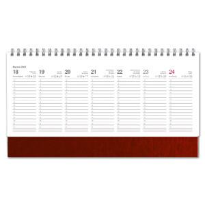 Kalendarz Biurkowy - stojący - Tygodniowy - NEBRASKA - BORDO