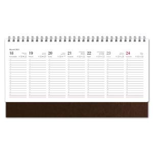 Kalendarz Biurkowy - stojący - Tygodniowy - NEBRASKA - BRĄZ