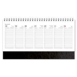 Kalendarz Biurkowy - stojący - Tygodniowy - NEBRASKA - CZARNY