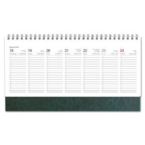 Kalendarz Biurkowy - stojący - Tygodniowy - NEBRASKA - ZIELEŃ