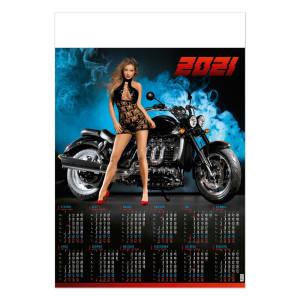 DZIEWCZYNA Z MOTOREM kalendarz B1