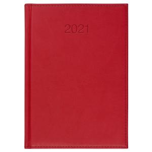 VIVO * A4 tygodniowy CZERWONY kalendarz książkowy