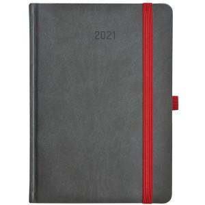 ZIGGO * A5 dzienny SZARY / CZARNY kalendarz książkowy