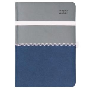 ZIGGO * A5 dzienny SZARY/ GRANATOWYkalendarz książkowy