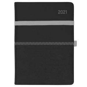 ZIGGO * A5 dzienny CZARNY / CZARNY kalendarz książkowy