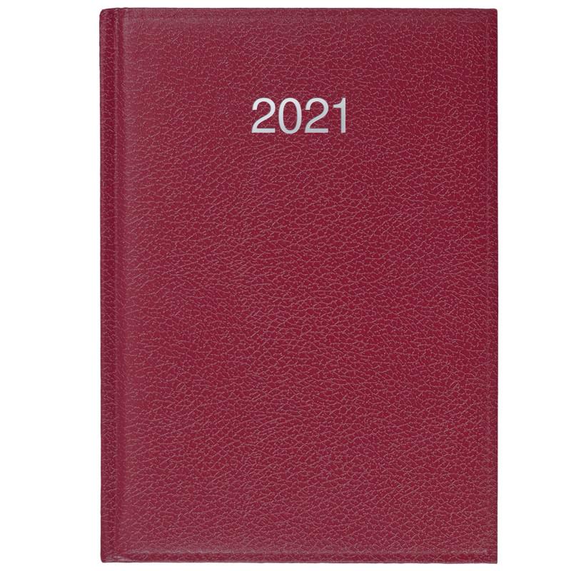 CRONO * A5 dzienny BORDO kalendarz książkowy