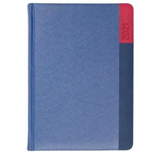 LUNA * A4 tygodniowy  GRANATOWY / GRANATOWY / CZERWONY kalendarz książkowy