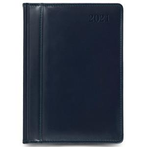 SKÓRA * A4 dzienny z registrem GRANATOWY kalendarz książkowy