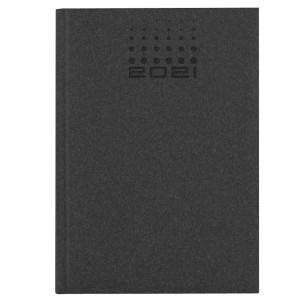 NATURA CLASSIC * A6 tygodniowy CZARNY kalendarz książkowy