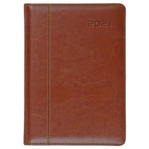 NEVRO * A4 dzienny z registrem BRĄZkalendarz książkowy