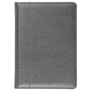 NEVRO * B6 dzienny z registrem SZARYkalendarz książkowy