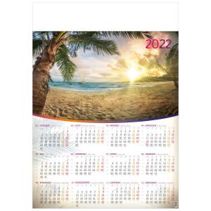 POD PALMAMI kalendarz A1