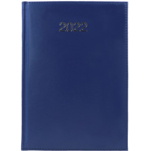 CRONO * A5 dzienny GRANATOWY kalendarz książkowy