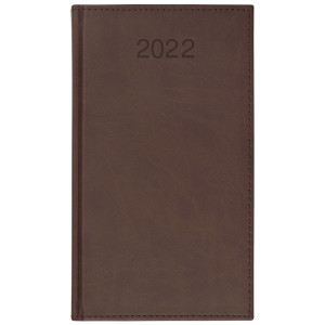 VIVO * A6 tygodniowy BRĄZOWY kalendarz książkowy