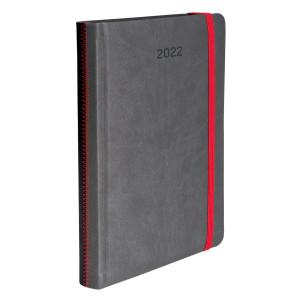 ZIGGO * A4 dzienny SZARY / CZARNY kalendarz książkowy