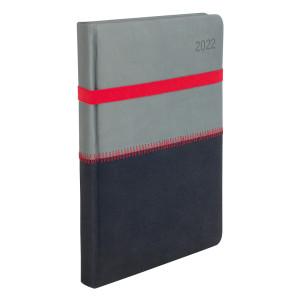 ZIGGO * A4 dzienny SZARY / GRAFITOWY kalendarz książkowy