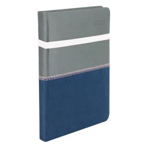 ZIGGO * A4 dzienny SZARY/ GRANATOWY kalendarz książkowy