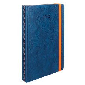 ZIGGO * A4 dzienny GRANATOWY kalendarz książkowy