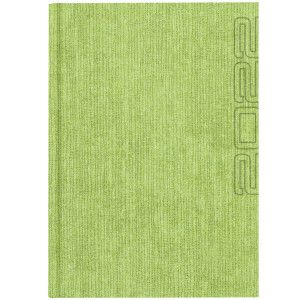 NATURA GRASS * B5 dzienny JASNOZIELONY kalendarz książkowy