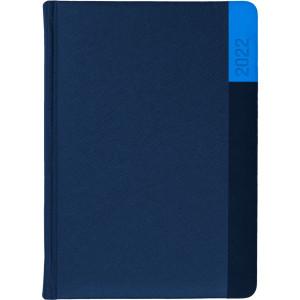 LUNA * A5 dzienny  GRANATOWY / GRANATOWY / NIEBIESKI kalendarz książkowy