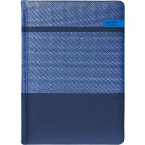 STELLA * A5 dzienny  GRANATOWY / GRANATOWY / NIEBIESKI kalendarz książkowy