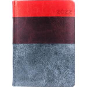 HYPER * A5 dzienny  CZERWONY / BORDOWY / SZARY kalendarz książkowy